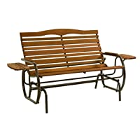 Deals on Jack Post Country Garden Glider with Trays in Bronze