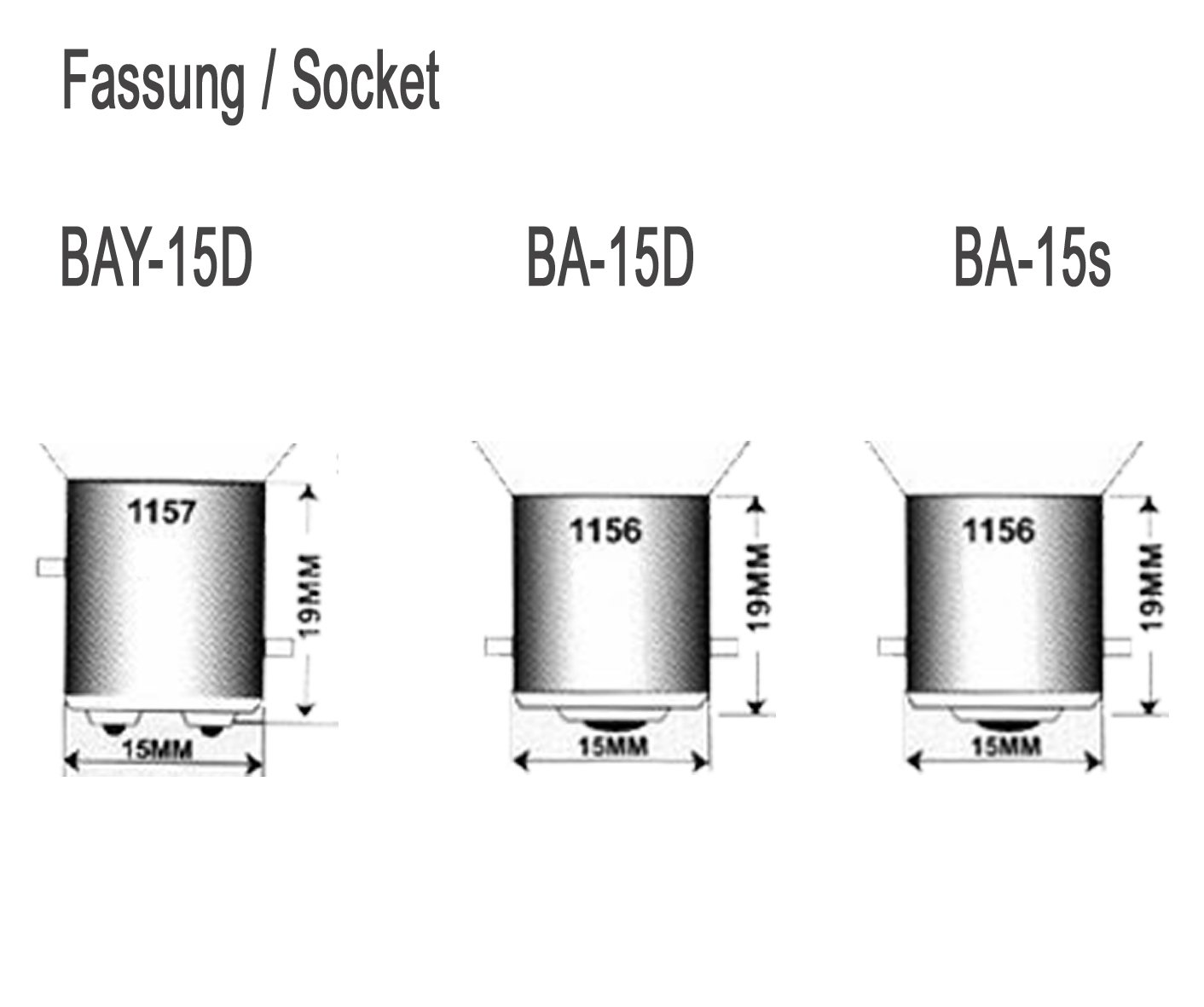 Attraktiva 4 Stück BA15S -Sockel für Lampe: Amazon.de: Elektronik HP-96