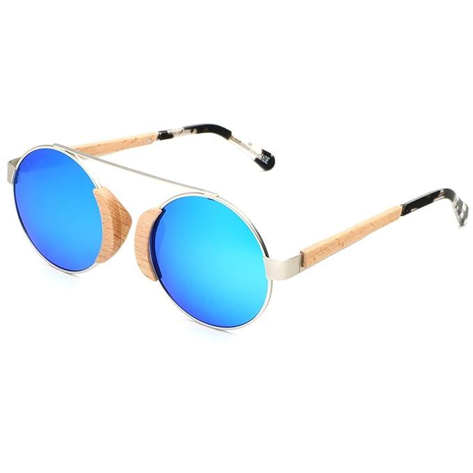 Amazon.com: ablibi Retro Madera Lennon estilo anteojos de ...