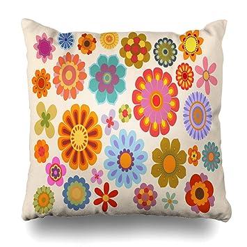 Amazon.com: Ahawoso - Funda de almohada con diseño retro de ...