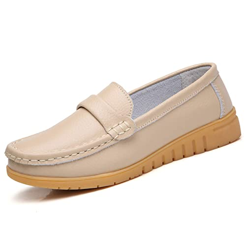 cheapest price vast selection fresh styles Mocassins Femme Cuir Chaussure Bateau Loafers Plates
