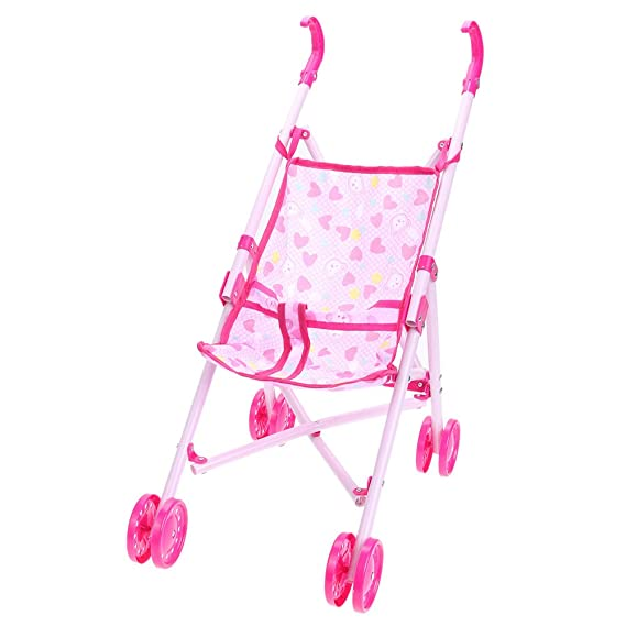 Amazon.com: Akaddy Dolls Buggy Stroller Pushchair Foldable Girls Toy Doll Pram(Random Color): Toys & Games