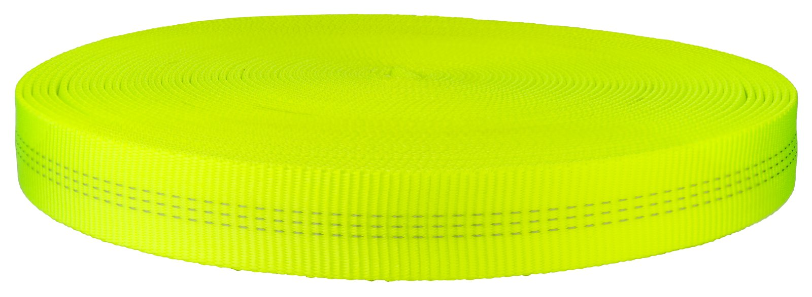 1 Inch Hot Yellow Tubular Nylon Webbing Closeout, 10 Yards
