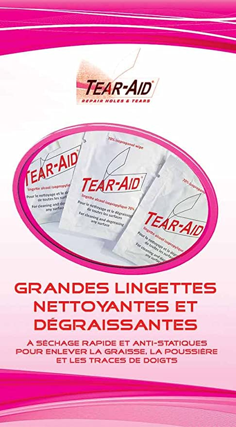 Tear-Aid Toallitas limpiadoras de alcohol isopropílico 70%