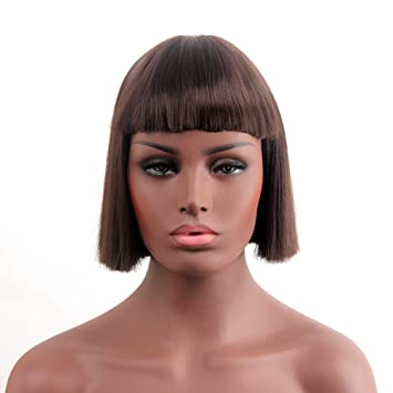 "Stfantasy Wigs for Women Short Straight Heat Resistant Synthetic Hair 11.5"" 134G with Bangs Wig"