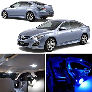 White LED Interior Light Accessories Package Kit fits 2014-2017 Mazda 6