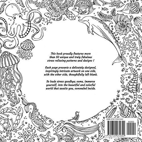 Adult Coloring Book – Ocean – Stress Relieving Patterns & Designs – Volume 2: More than 50 unique, fabulous, delicately designed & inspiringly intricate stress relieving patterns & designs!