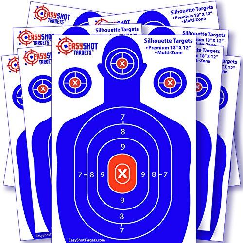 rifle targets human - 3