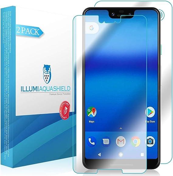 HD Clear Screen Protector No-Bubble TPU Film 2-Pack Back Protector Compatible with Google Pixel 3 ILLUMI AquaShield Front