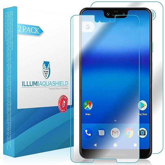 best service 91dda cbbf4 Google Pixel 3 XL Screen Protector + Back Cover [2-Pack], ILLUMI AquaShield  Full Coverage Back and Front Screen Protector for Google Pixel 3 XL HD ...