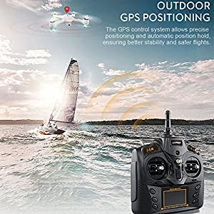 Cewaal X3 Drone with 1080P Camera and GPS Return Home,WIFI Camera Real Time Transmission,Brushless Motor,CE Certification,One Key Return Geomagnetic Correction Aerial Drone for Adults by Cewaal