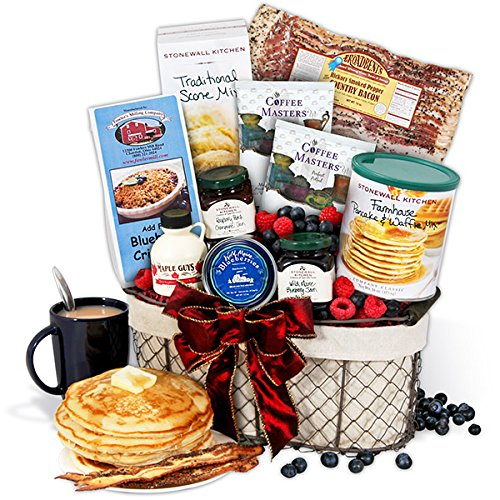 New England Breakfast Gift Basket Deluxe (Breakfast Themed Gift Baskets)
