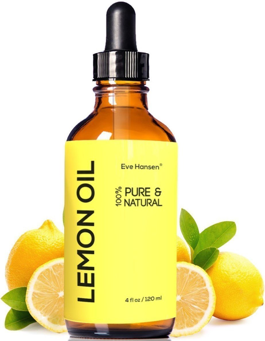Pure Lemon Essential Oil - Food Grade, Natural Air Freshener Aromatherapy Oil, Home Cleaner and Disinfectant, and Stress Reliever Oil For Face - 4 Ounces - Eve Hansen