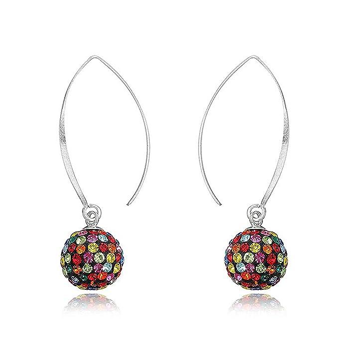 00001fe98fd2 Pendientes Mujer Fashionvictime - Joya Chapado En Plata - Cristales  Swarovski  Amazon.es  Joyería