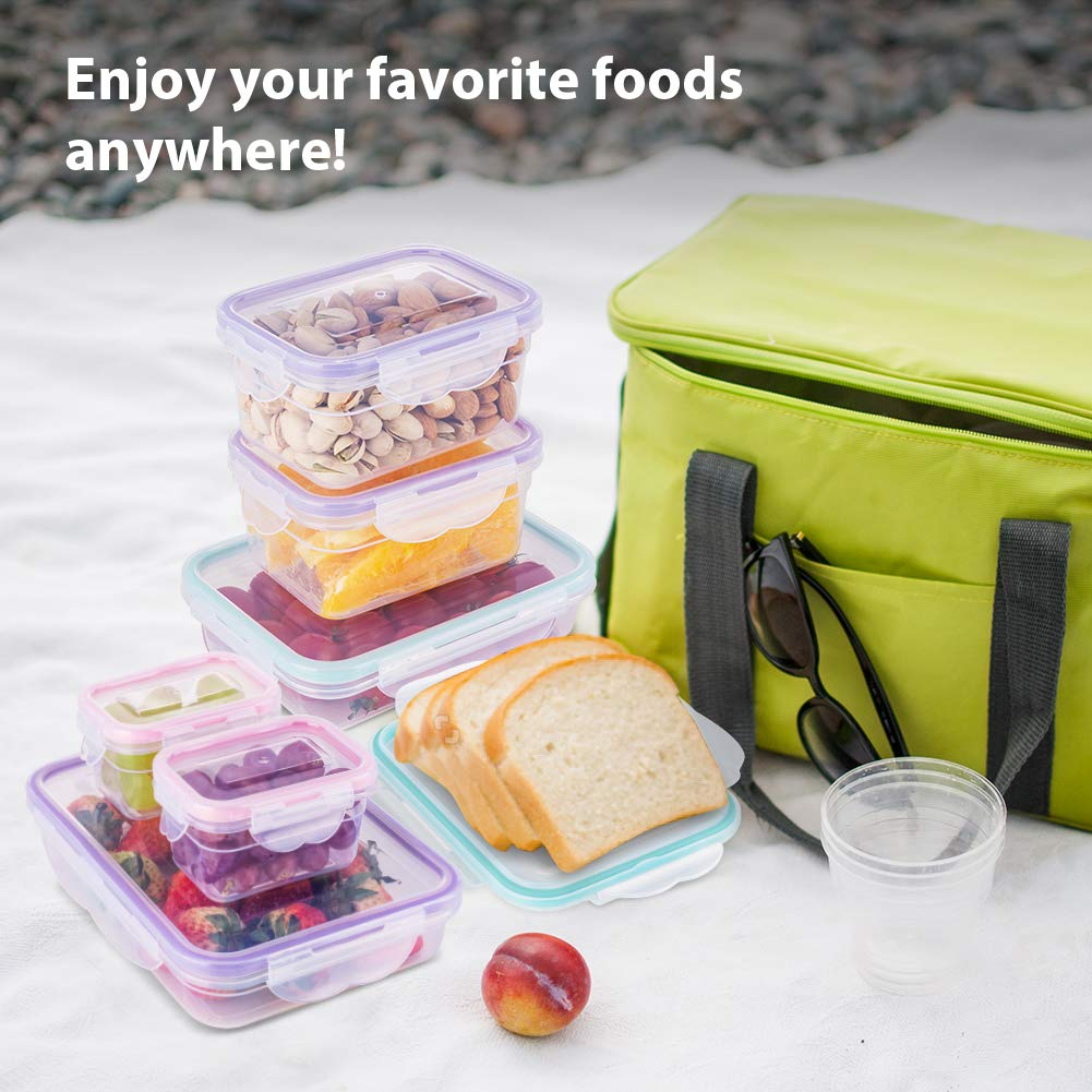 [16 Pack] Food Storage Containers with Lids, Plastic Food Containers with Lids, Airtight Storage Container Sets for Healthy Diet, Vegetables, Snack & Fruit (Small&Large Size), BPA Free & Leakproof by Bayco (Image #6)