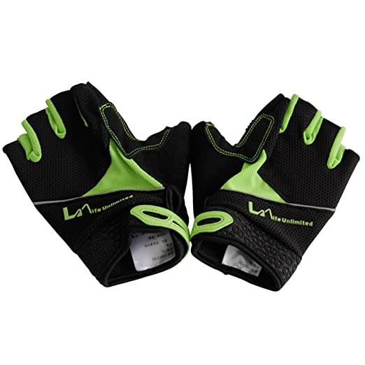 af5078c93405c0 Outdoor Multi-Purpose Klettern Handschuhe/ bike halbe Fingerhandschuhe/ Handschuhe-grün XXL