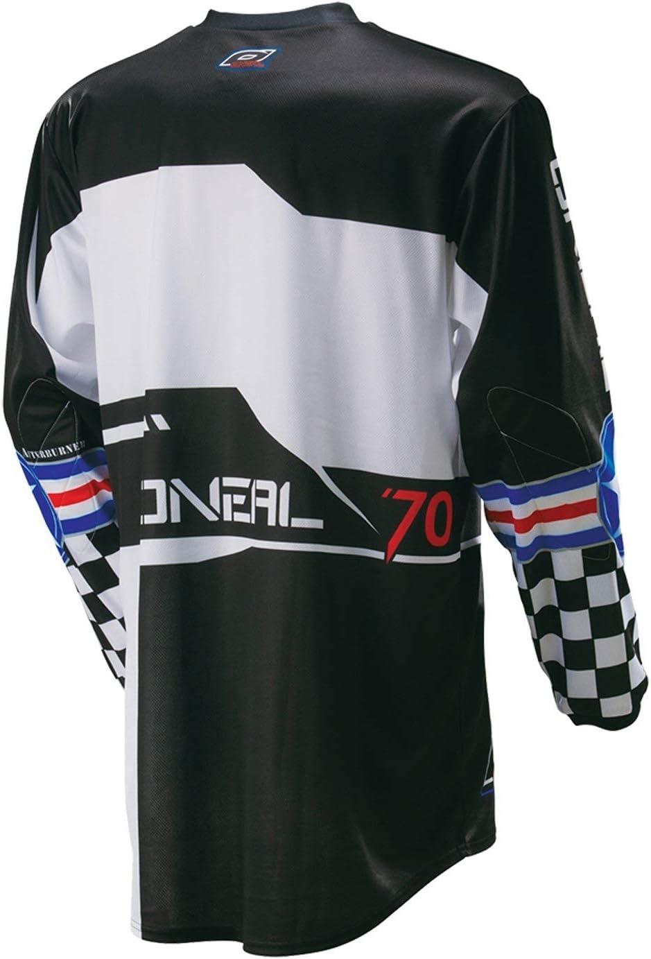 O Neal Element MX Jersey After Burner Nero Blu 0024/a 81