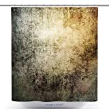78 inch metal door - vanfan-Durable Shower Curtains Grunge Wallpaper Polyester Bathroom Shower Curtain Set With Hooks(48 x 78 inches)