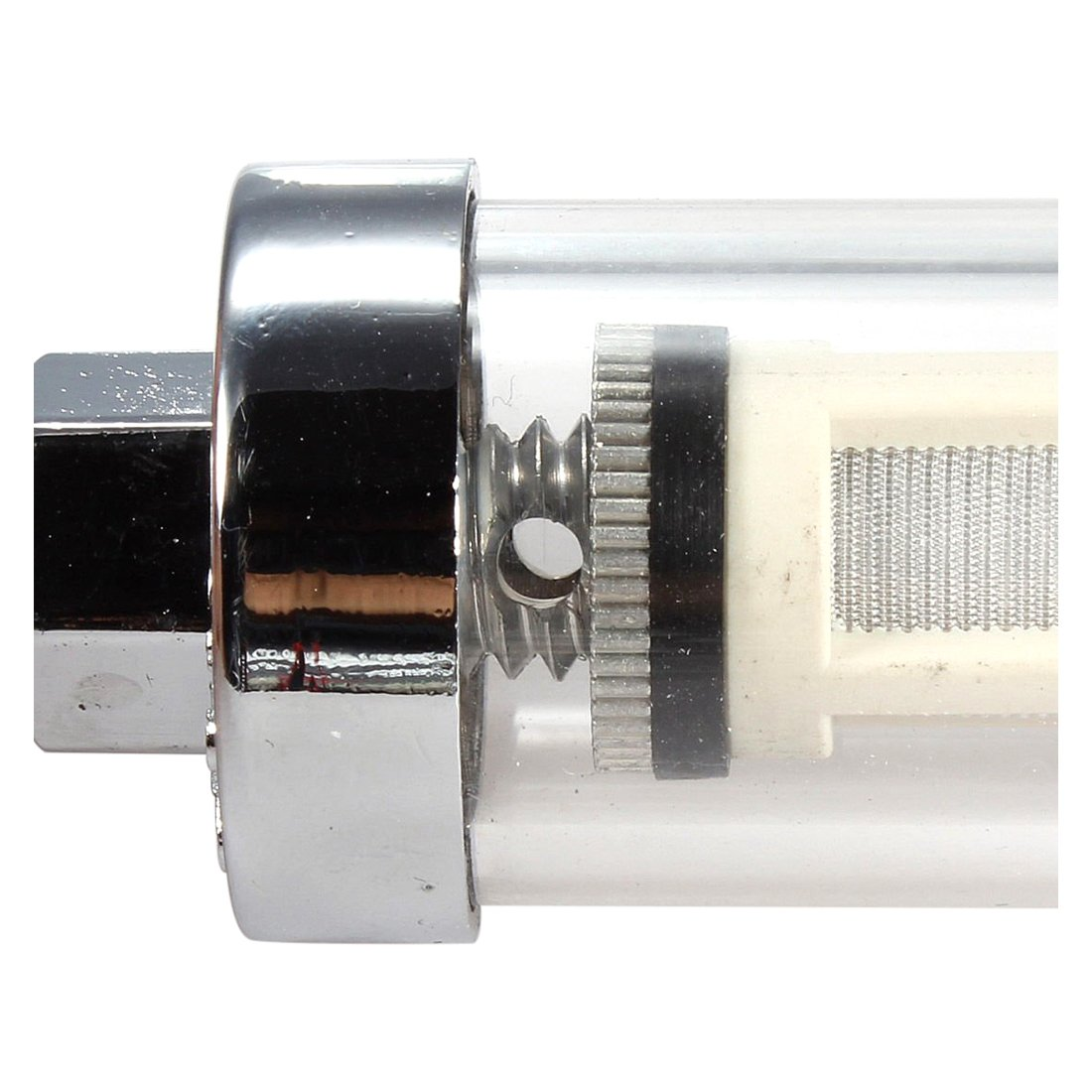 ACAMPTAR Filtro en L/ínea De Motor De Petr/óleo Crudo Gasolina Combustible De Vidrio De Cromo Universal 5//16 Pulgada 8Mm Plata