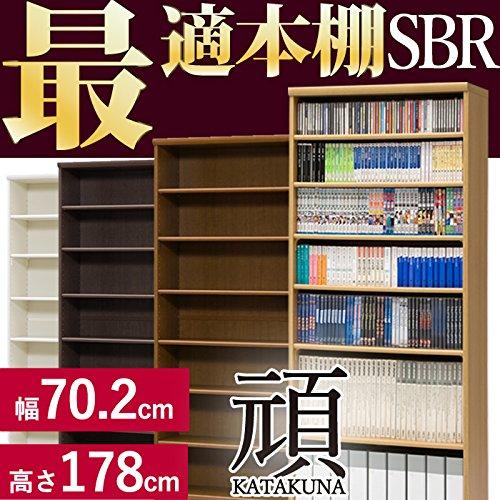 どんな本もバッチコイ SGJ(スーパー頑丈)本棚 SBR [幅70.2cm ナチュラル 高さ178cm 奥行31cm コミック約308冊] B00UG4Z1P4 Parent ナチュラル 幅70.2cm 頑丈