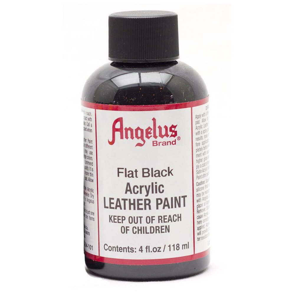 Angelus Leather Paint 4 Oz Flat Black MACPHERSON 720-04-101