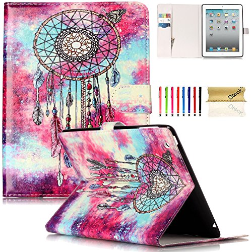 iPad 2/3/4 Case, Dteck(TM) Slim Flip PU Leather Wallet Case with Card Slots/Money Pouch Kickstand iPad Case Magnetic Closure Shell Full Body Protective Case Cover for Apple iPad 2 3 4,Dreamcatcher by Dteck (Image #8)