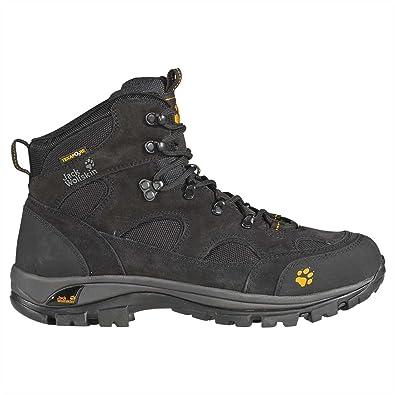 7d8883f3417b Jack Wolfskin All Terrain Texapore Boots - Nearly Black, Orange Fall, UK 7 (