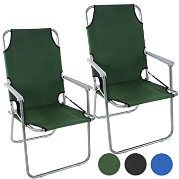 Miadomodo - Silla de Camping Plegable en Juego de 1 o 2 Piezas - Color a Elegir