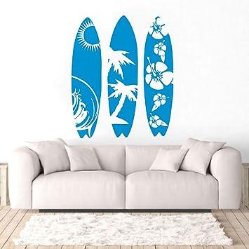 zzlfn3lv Tabla de Surf de Gran tamaño Etiqueta de la Pared Deportes acuáticos Etiqueta de la Pared Diseño de la Tabla de Surf Walllpaper Extraíble Vinilo ...