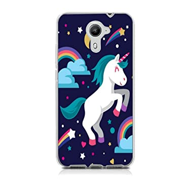 Wiko Ufeel Prime Funda Unicornio que rebota Soft ligera Gel TPU Silicona Protectorae Teléfono Carcasa para Wiko Ufeel Prime