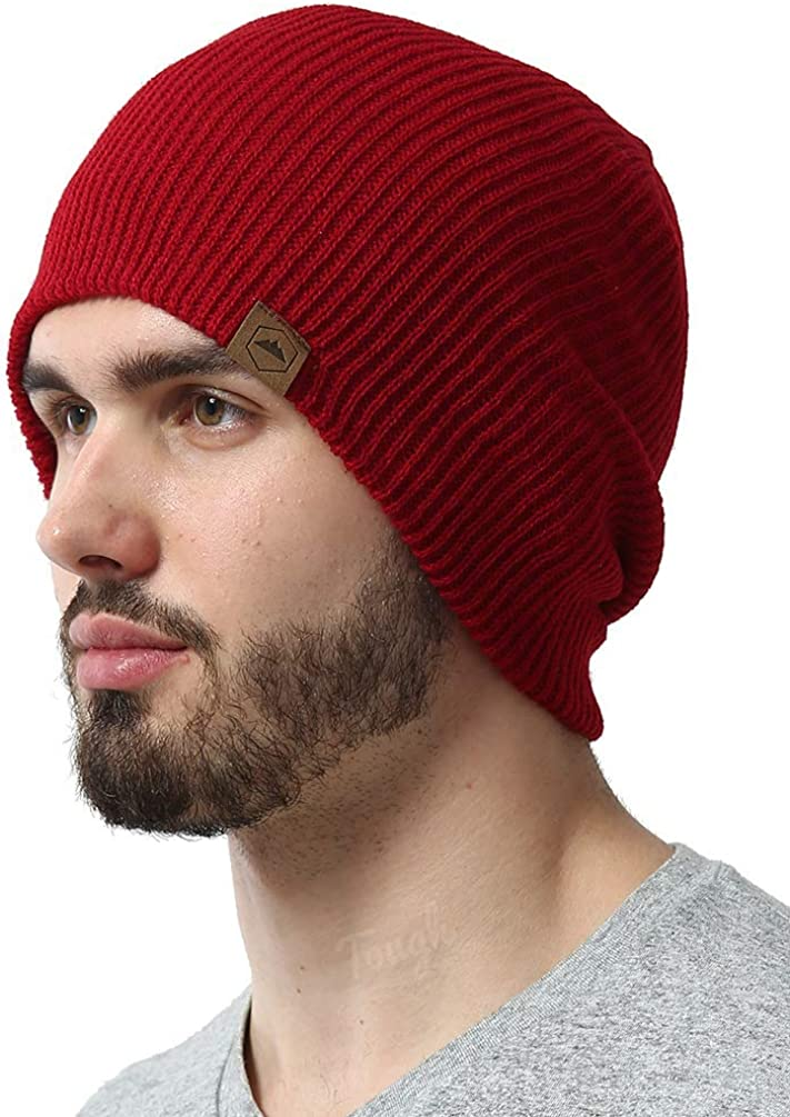 Tough Headwear Daily Knit Ribbed Beanie Warm, Stretchy & Soft Beanie Hats for Men & Women - Year Round Comfort - Serious Beanies for Serious Style Black: Clothing