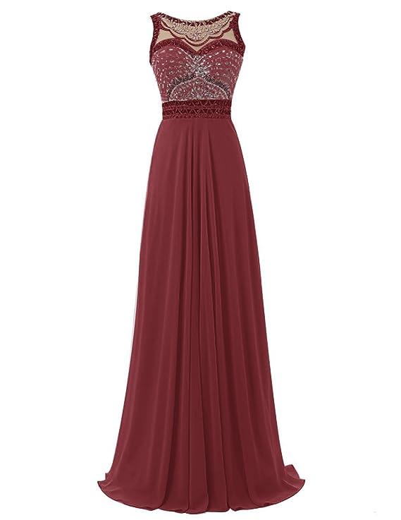 Dresstells - Vestido - Básico - para mujer granate 36: Amazon.es: Ropa y accesorios