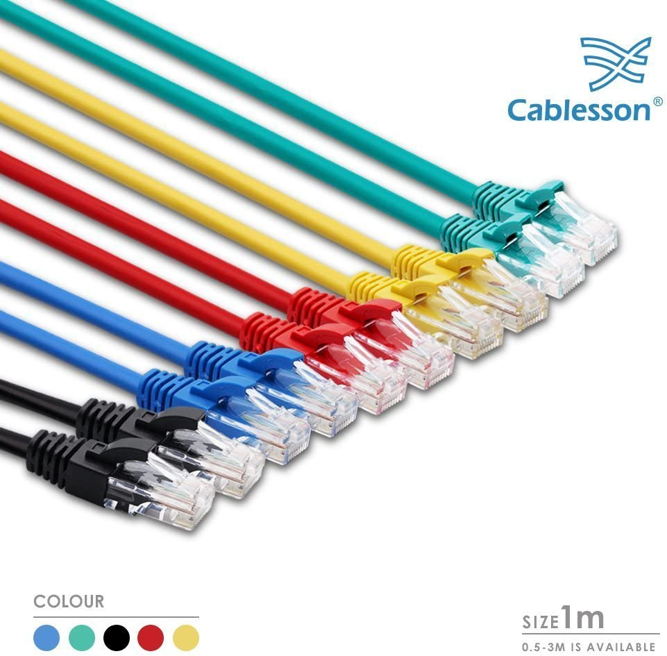 and XBox 360. 0.5m Mac,Laptop Networking Cord Patch Cable RJ45 10 Gigabit 100Mhz Lan Wire Cable STP for Modem 10 Pack + Cable Ties PC PS2,PS3 Cat5e Cablesson Ethernet Cable Router PS4,XBox