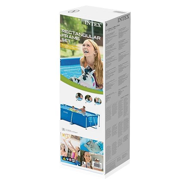Amazon.com: Intex - Piscina rectangular de 8.5 in x 5.2 in x ...