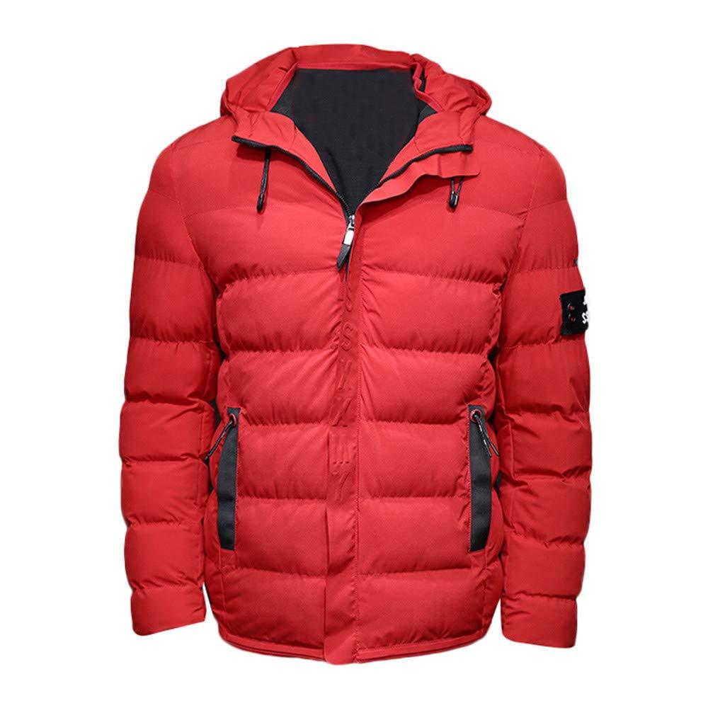 Reißverschluss Steppjacke Herren Briskorry Männer Mode Daunenjacke Wintermantel Warm Hooded Übergangsjacke Winterparka Jacke
