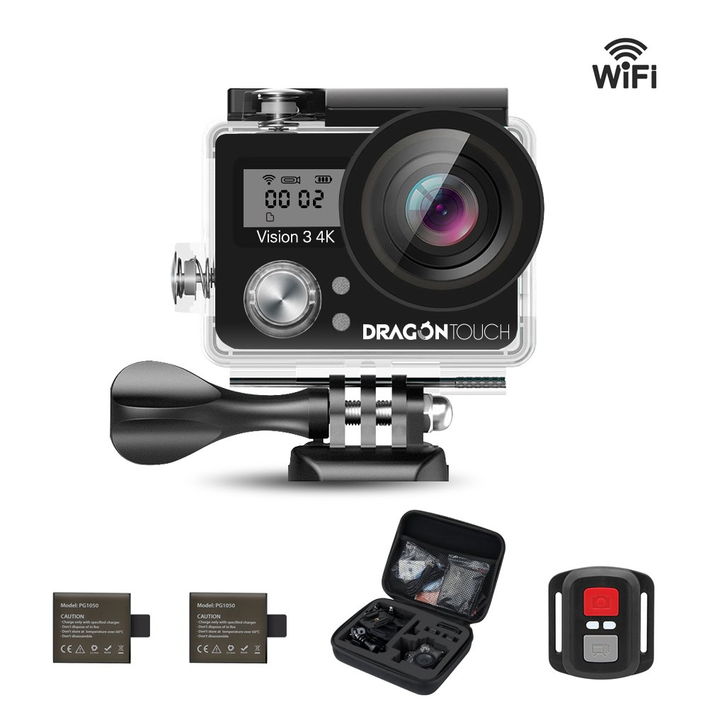 dragon touch vision 3 4k sports action camera ultra hd. Black Bedroom Furniture Sets. Home Design Ideas