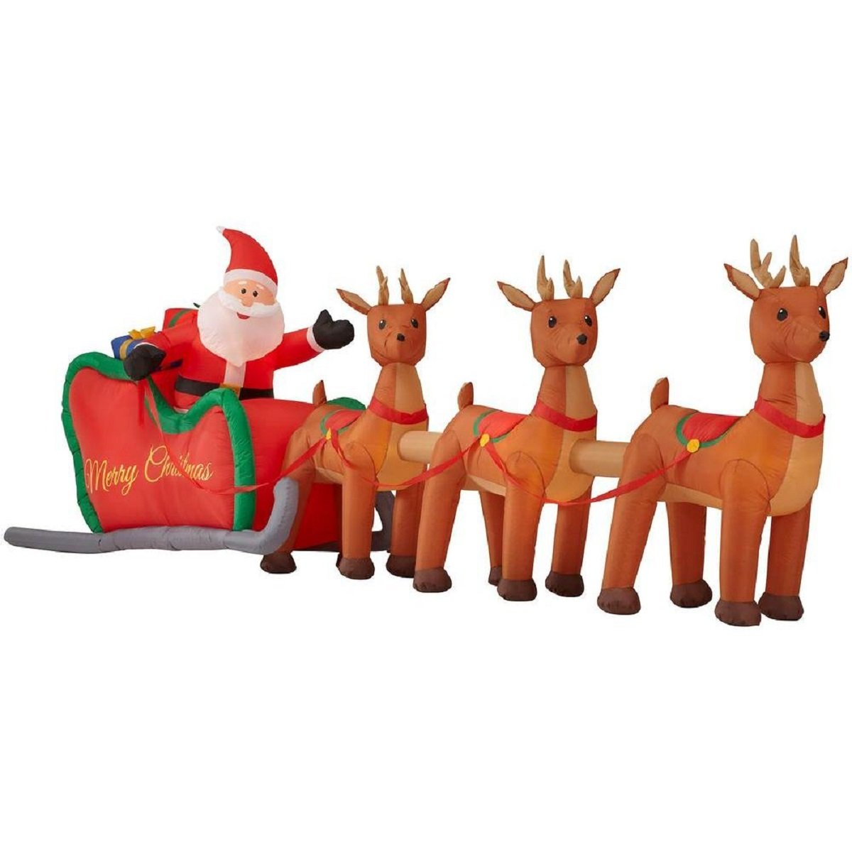 Santa Sleigh Outdoor Inflatables