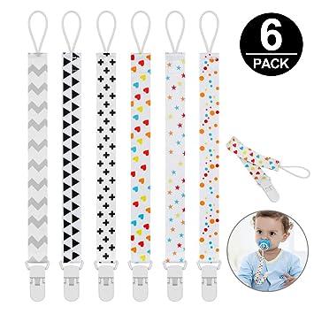 10Pcs 10 Farben Schnuller Clips Bulk Kunststoff Baby Kinder Schnuller Halte Neu