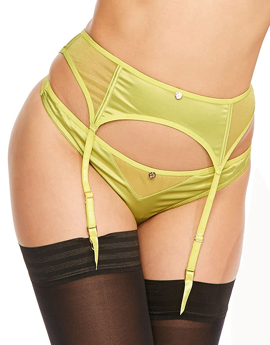 Curvy Kate Scantilly Womens Peek-A-Boo Suspender Belt