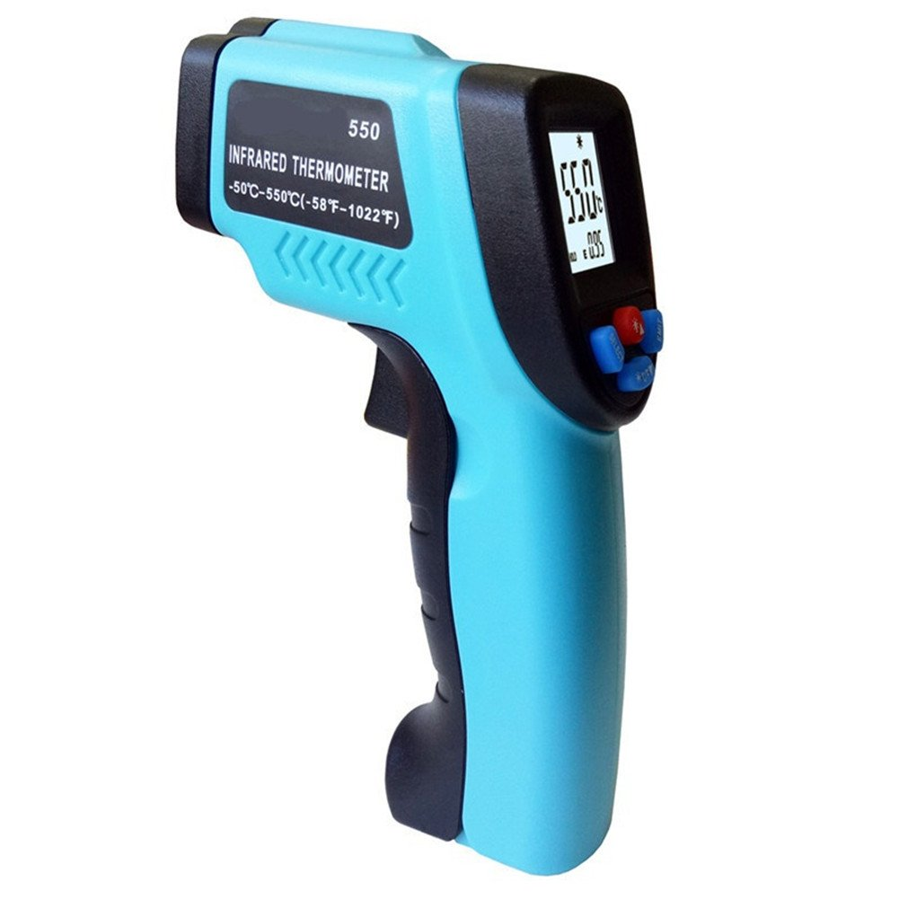 Pirómetro infrarrojo Digital con pantalla LCD Sin contacto GM550