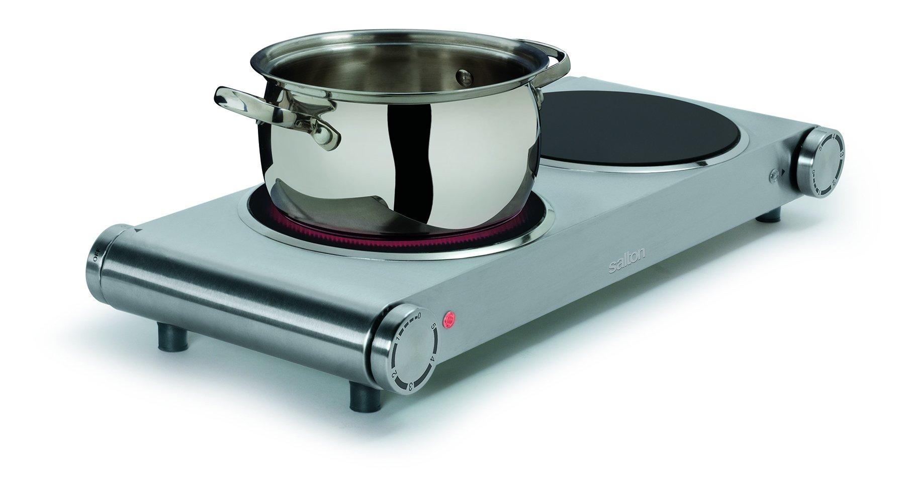 Salton HP1269 Double Burner Infrared Cooking Range, Stainless Steel by Salton (Image #2)