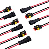 2 Wire Connector, MUYI 5 Kit Electric Connector 18 AWG Connectors Waterproof Electrical Connector 1.0mm² Wire Harness 1…