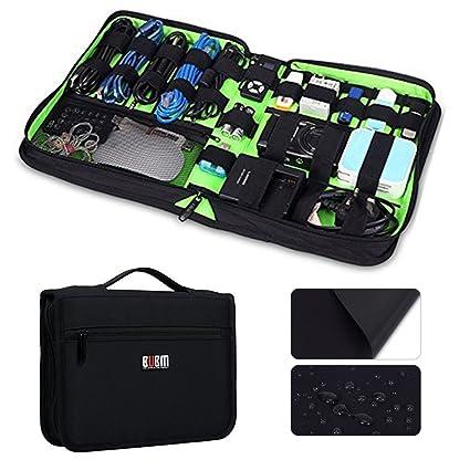 Big Electronics Organizer, Travel Portable Cable Organizer Bag Waterproof  USB Cable Electronics Accessories Case For