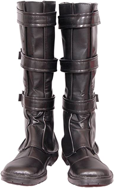Adult Boot Shoe Covers Tops Buckles Lolita Costume Accessory Pleather Footwear