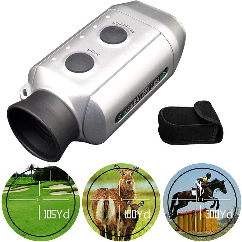 WWMH Telémetro de Golf Aumento 7X Buscador de distancias de Golf con una Bolsa de Almacenamiento para la Caza Deportiva de Golf Escalada Tiro con Arco