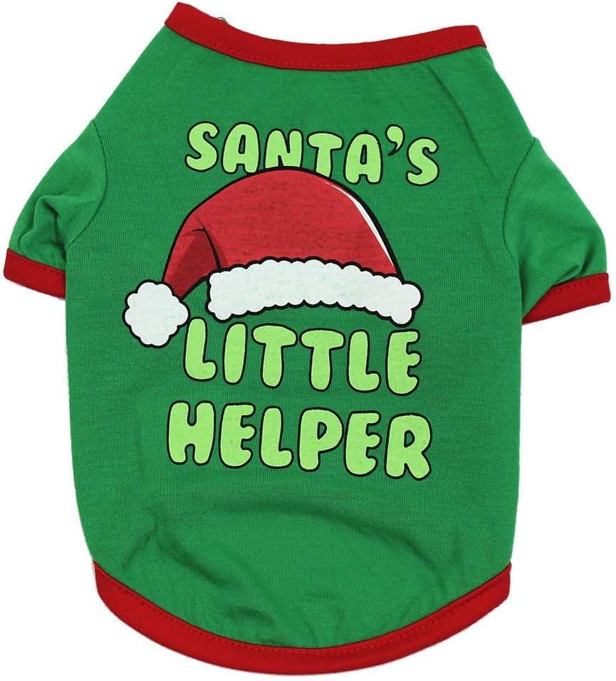 Haustier Kleidung,Warme Hundepullover Weihnachten Sweater Elch Muster Pullover Strickpullover Winter Welpe Hund Katze Hundepulli Warmer Sweatshirt