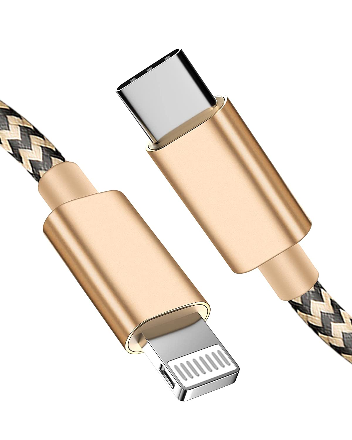 USB C to Lightning Cable 2 Pack 5FT,USB C iPhone Charger Cable Nylon Braided USB Type C to Lightning Cable Fast Charging Syncing Cable for iPhone 11 Pro/11/XR/XS/AirPods Pro/iPad Air/iPad Pro