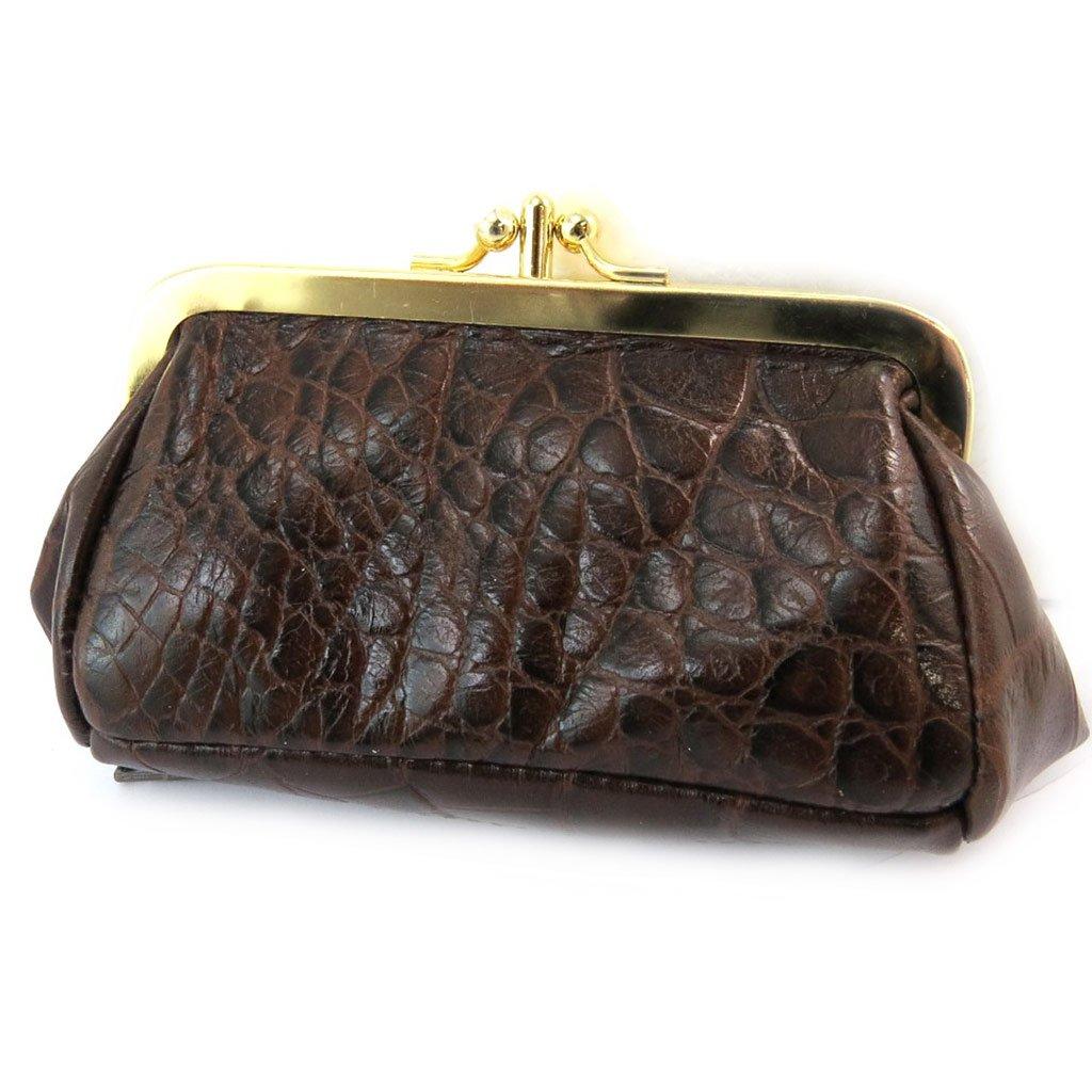 Monederos de cuero Frandichocolate marrón (cocodrilo ...