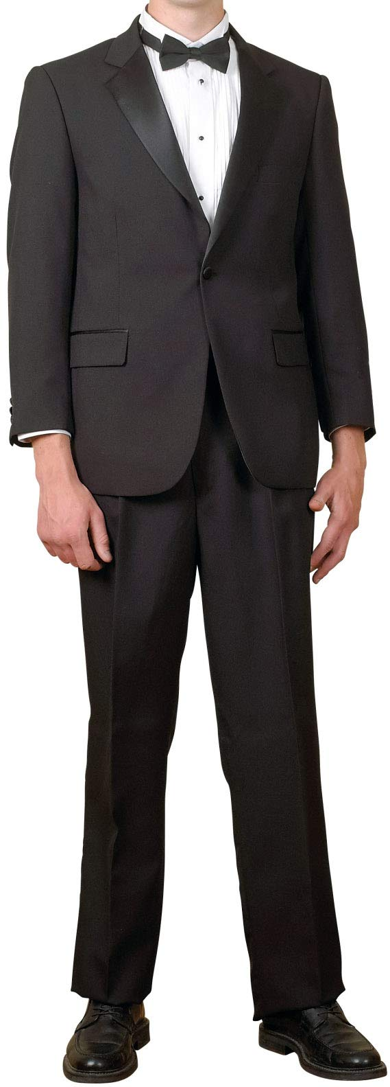 Broadway Tuxmakers Mens 1 Button Black Classic Notch Collar Tuxedo Jacket by (52L) by Broadway Tuxmakers