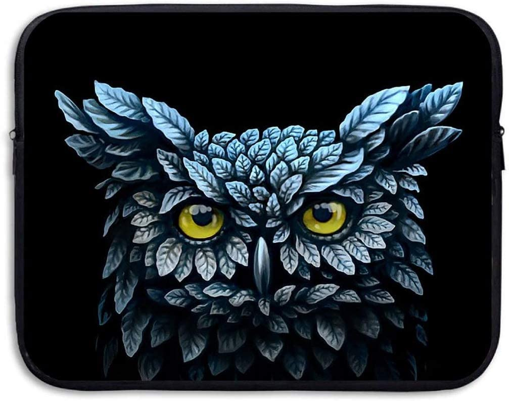 Cool Owl Pattern 13 Inch Laptop Computer Sleeve Notebook Cover Case Soft Computer Pouch Laptop Protective Bag Pouch